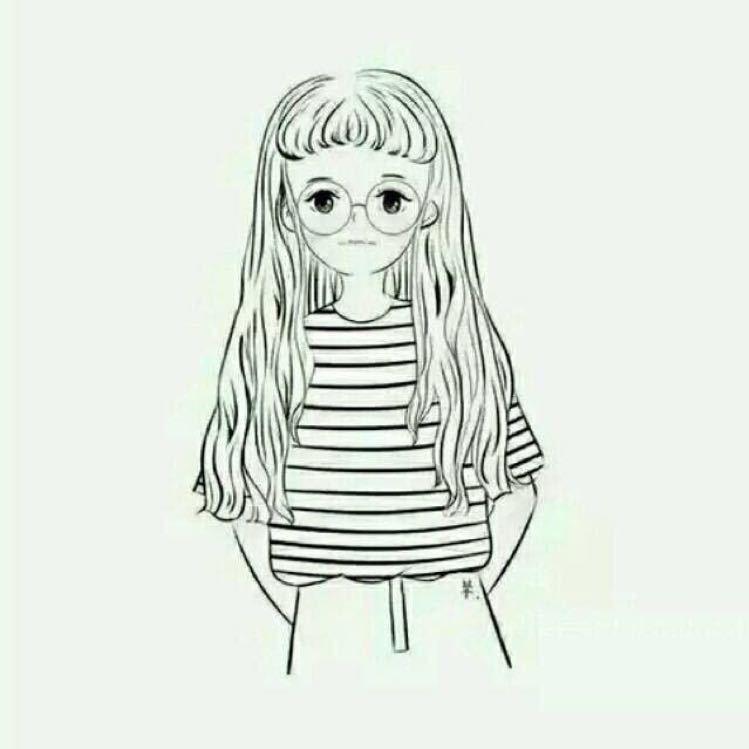 杨颖手绘卡通 铅笔画