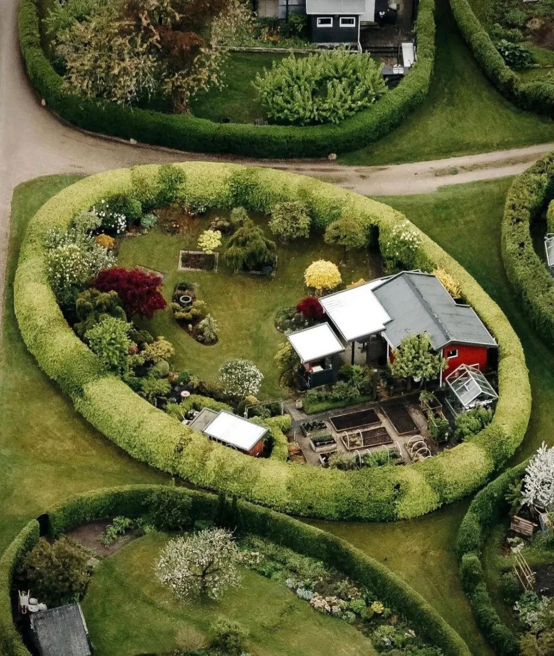 丹麦哥本哈根椭圆小区秘密花园