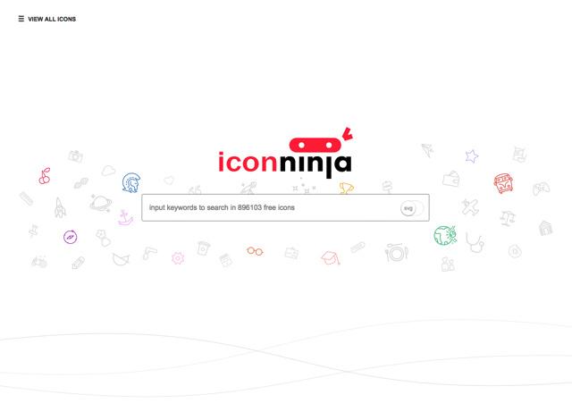 Icon Ninja免费图标搜寻引擎~收录将近 90 万个 PNG、SVG 图案下载