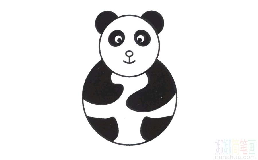 熊貓的畫法_圖片 4