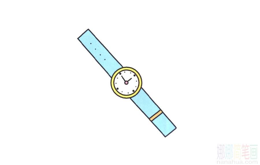 手表的簡筆畫畫法_圖片 4