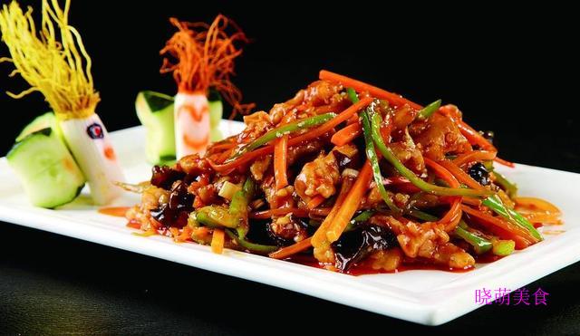 干锅排骨、韭菜炒河虾、蒜苔炒肉丝、京酱肉丝、鱼香肉丝的做法