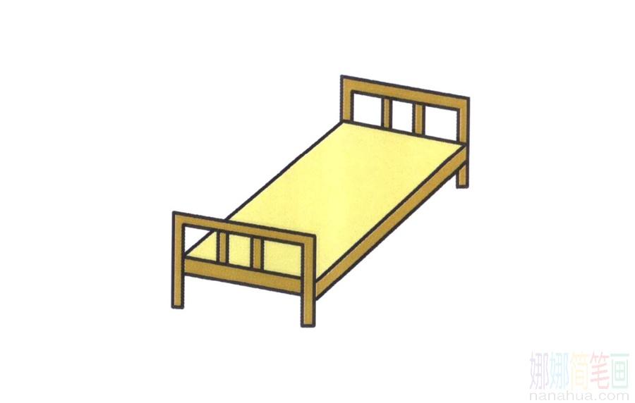 簡單5步畫出一張床(簡筆畫)_圖片 2