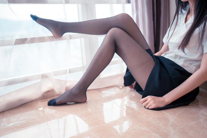 黑丝百褶裙 性感撩人 清纯丝袜