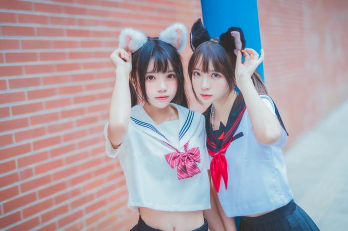 桜桃喵 005 猫耳 JK 制服少女
