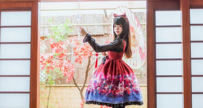桜桃喵 017 和风洛丽塔和风间舞