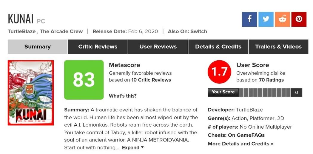 独立游戏《酷派忍者》Steam上被大量刷差评!制作人表示是有人故意为之!
