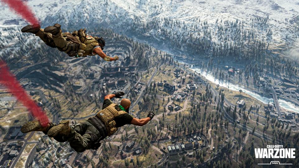 动视暴雪最新游戏《使命召唤战区》免费推出!使命召唤战区吃鸡模式最多可以容纳150人!