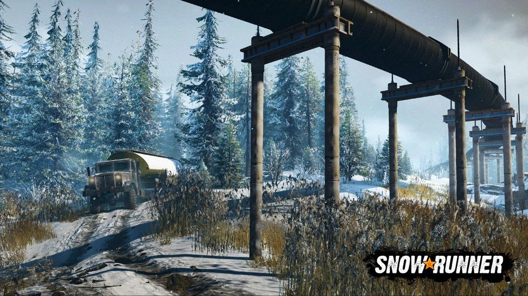 汽车游戏《雪地奔驰》带来全新游戏演示:总共有11个大型沙盒地图等你探索!-四斋社