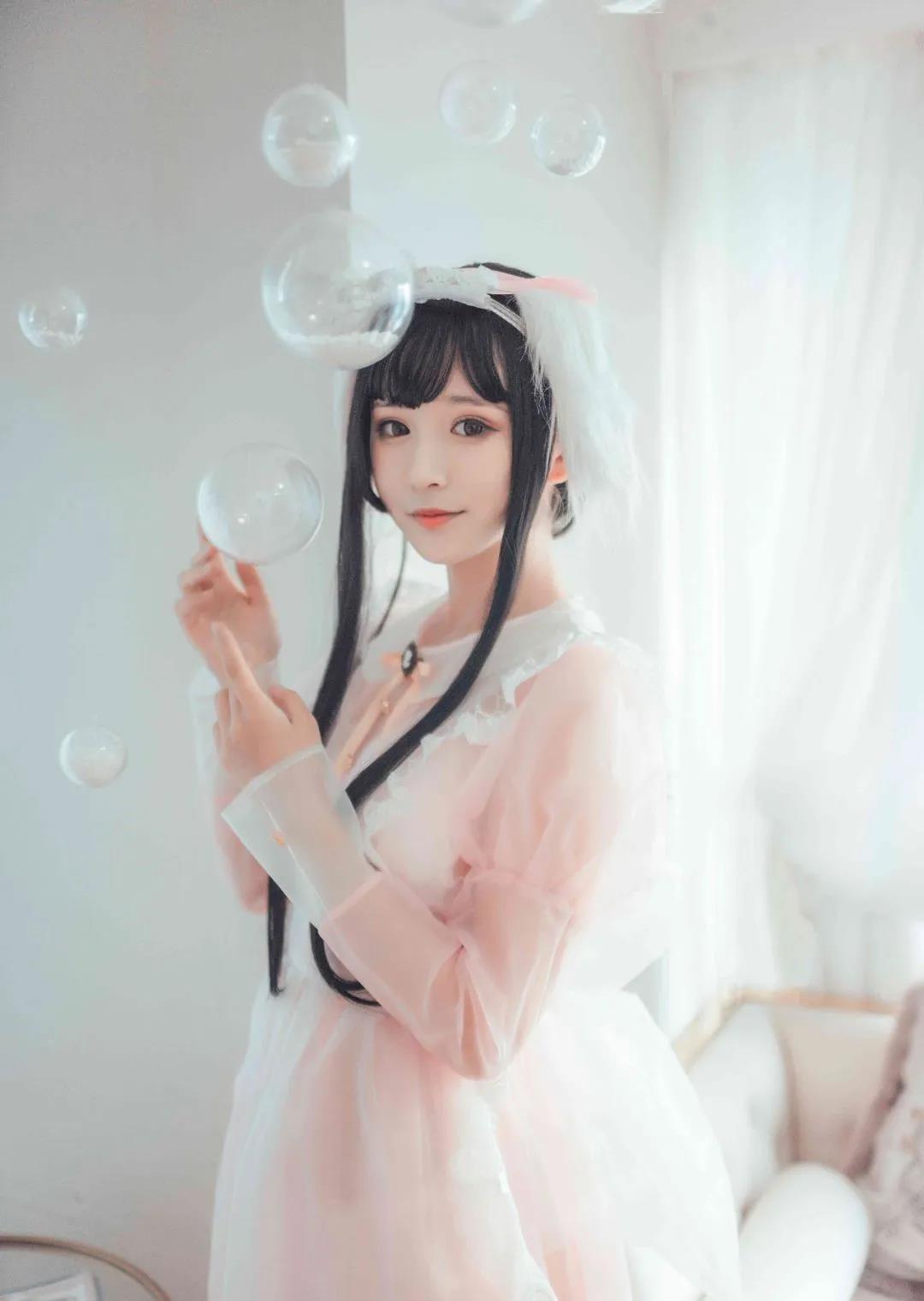 【四斋社妹子图】微博知名动漫COS妹子博主@喵糖映画 三位可爱女仆