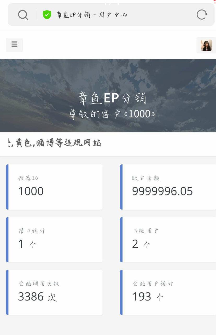 EP分销系统_美化版源码
