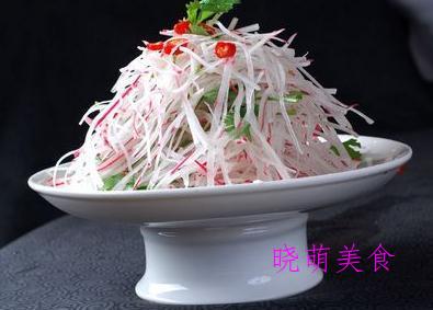 萝卜丝、蕨根粉凉拌腐竹的简单做法