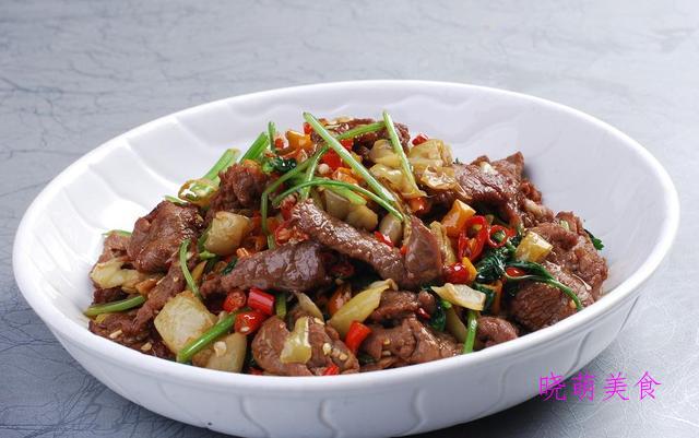 口水腰花、辣椒炒肚丝、青椒炒牛肉、豆干炒肉丝的做法,营养美味