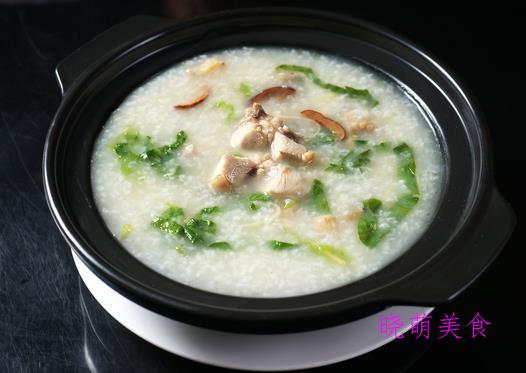 香菇滑鸡粥、青菜瘦肉粥、鲜虾粥、生菜瘦肉粥、牛肉粥的做法
