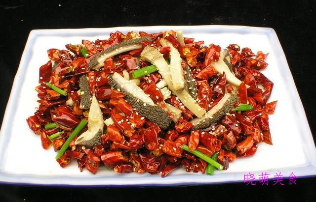 麻辣牛肚、椒香黄花鱼、香辣熏干、干锅山药的家常做法