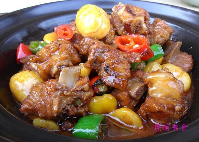 栗子烧小排、酸辣凤爪、爆炒鸡丝、爆炒鸡丝、鲍鱼煨鸡的做法