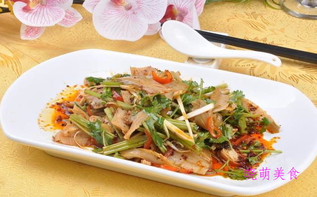 红烧鸡块、荔枝里脊肉、九转大肠、凉拌猪肚丝的家常做法