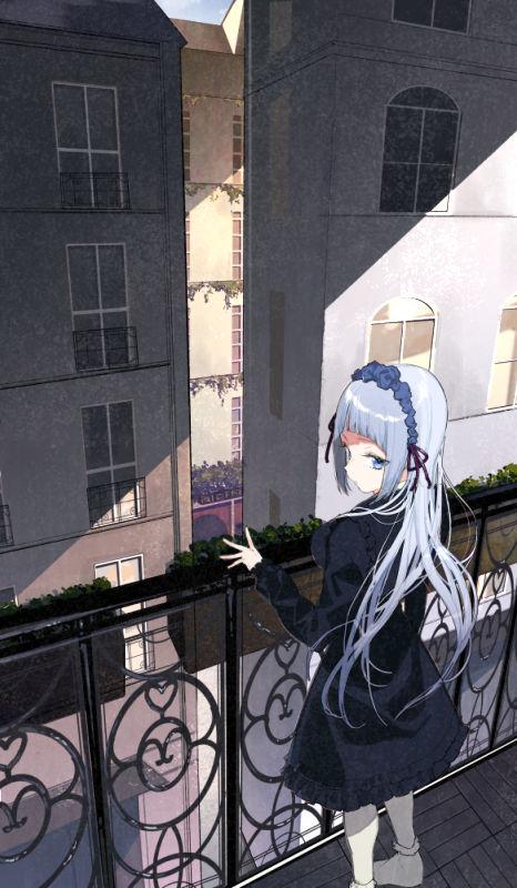 「动漫图集」阳台上晒太阳