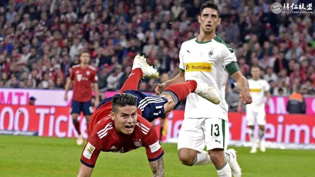德甲第7轮 拜仁0:3门兴 拜仁大败跌至积分榜第54