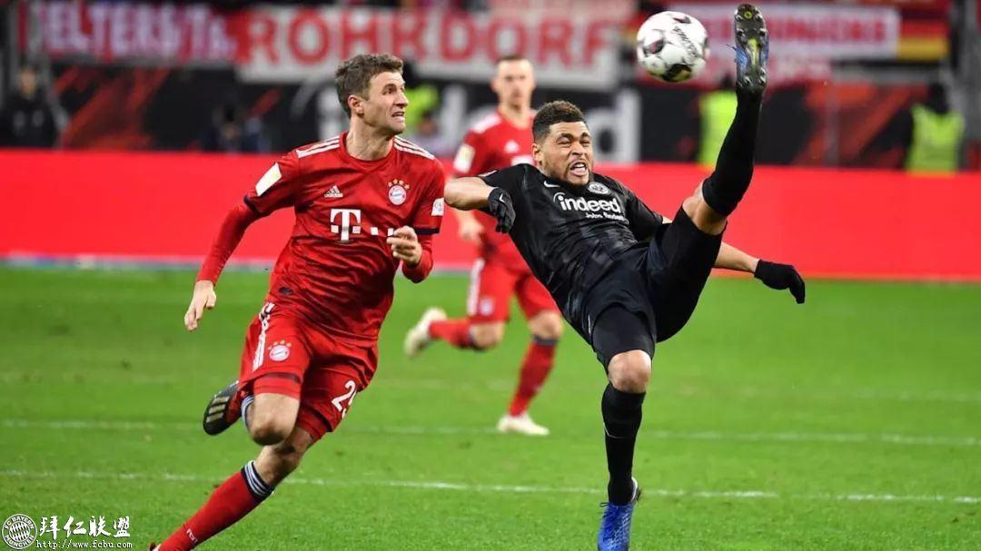 德甲第17轮 拜仁3:0法兰克福 国王两球取联赛5连胜2