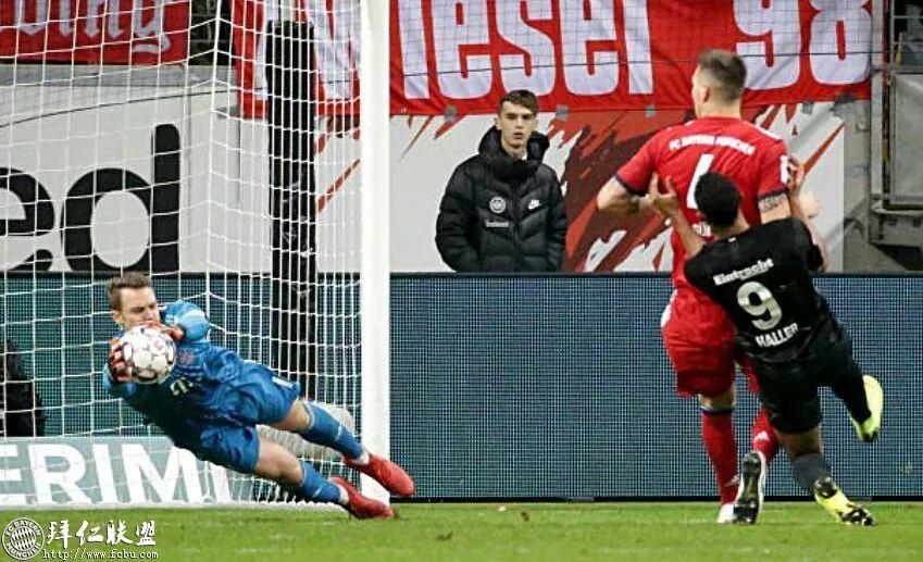 德甲第17轮 拜仁3:0法兰克福 国王两球取联赛5连胜11