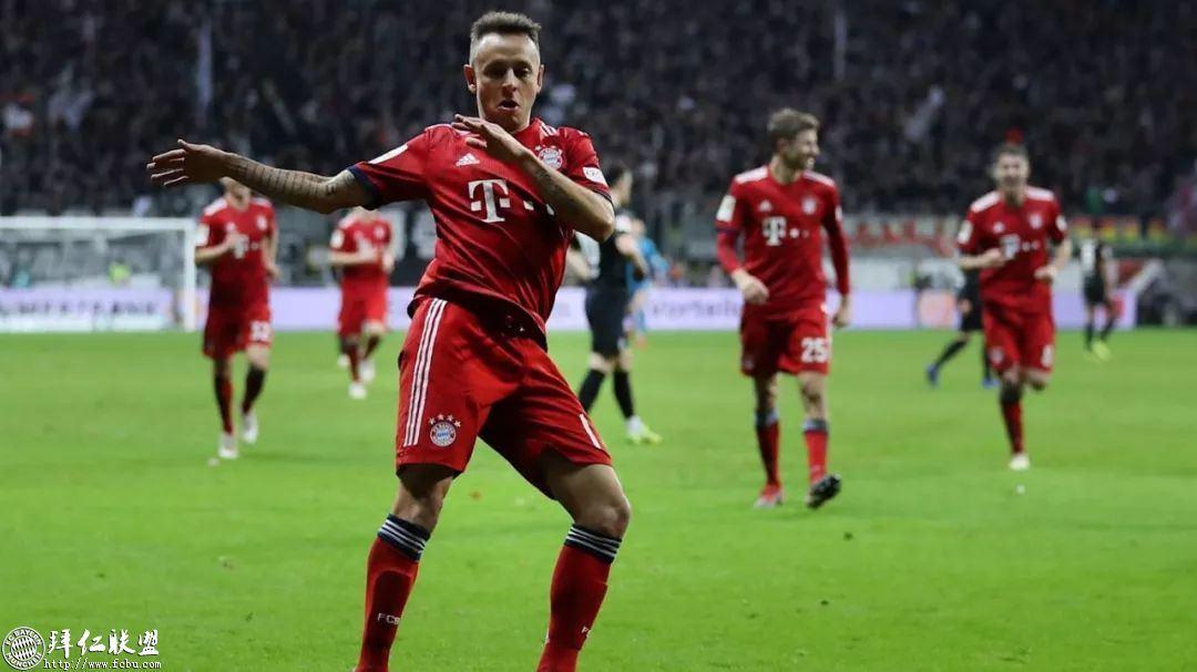 德甲第17轮 拜仁3:0法兰克福 国王两球取联赛5连胜12