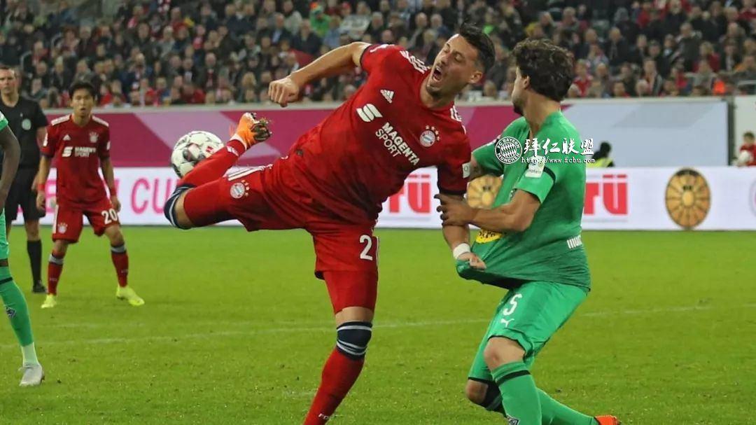 德国电信杯决赛卫冕冠军拜仁点球4:2门兴4