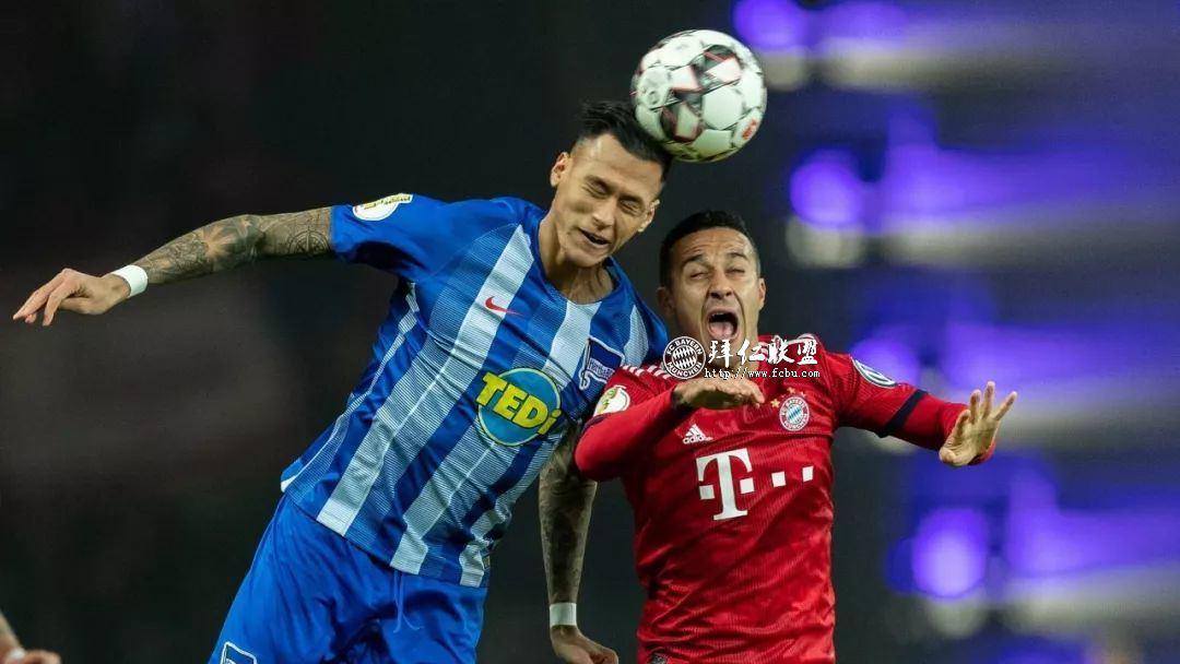 挺进德国杯八强 赫塔2:3拜仁 格纳布里两球 科曼加时制胜8