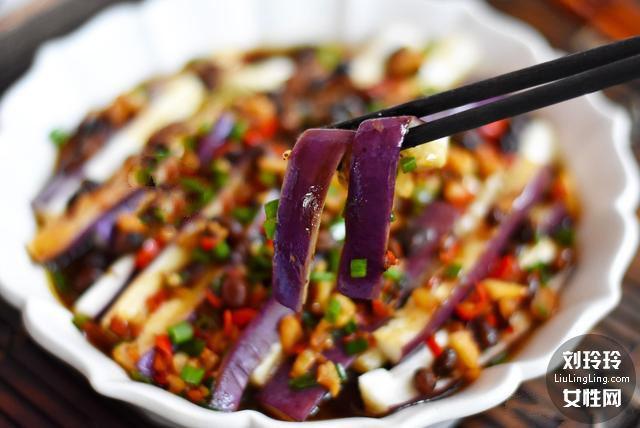 蒜末豆豉蒸茄子的做法 茄子不变色不吸油 吃了还想吃1