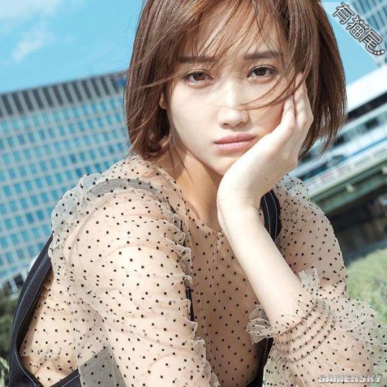 日本混血写真美女明星-冈田纱里清纯好动人