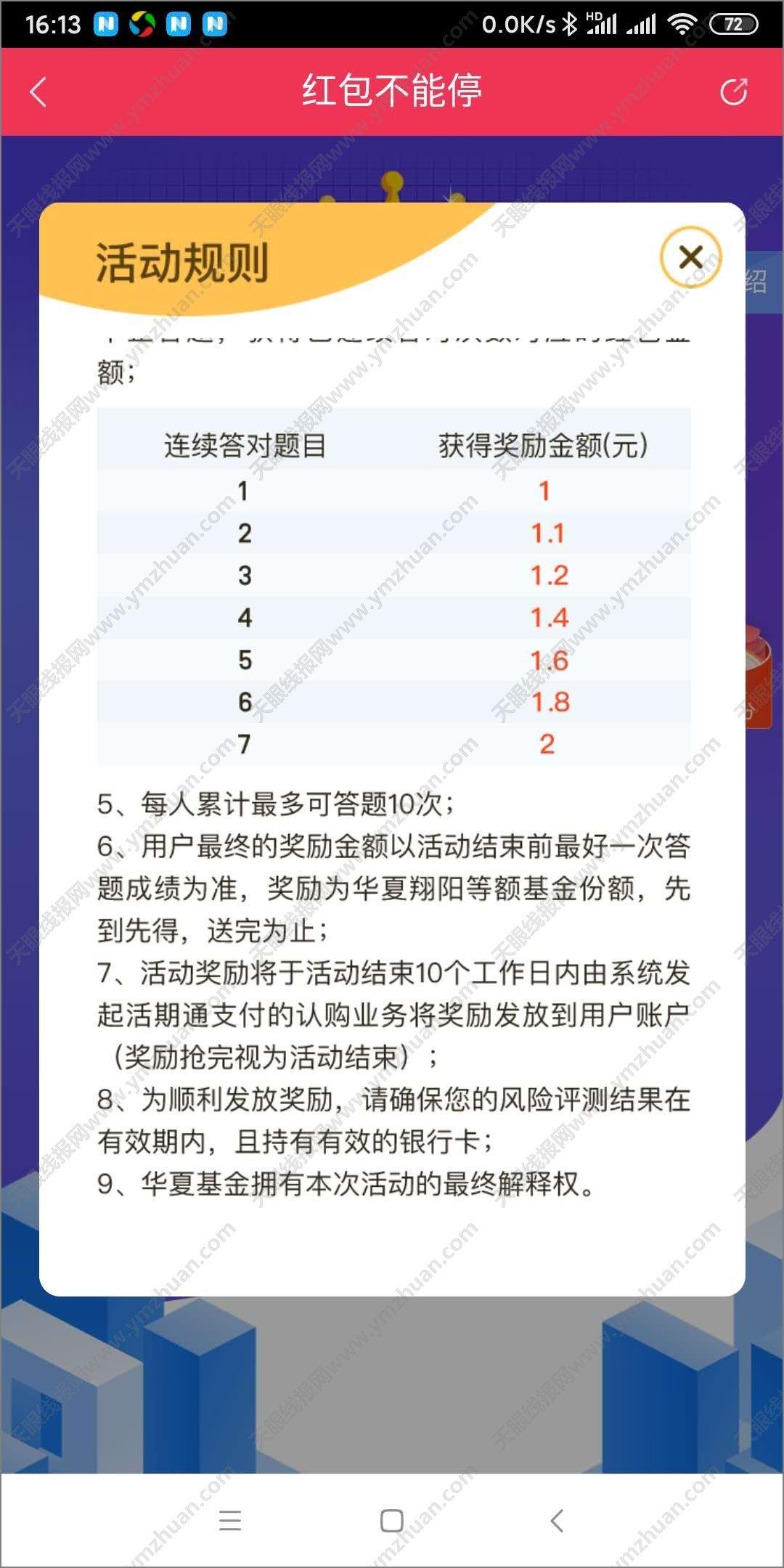 薅羊毛赚钱-华夏基金管家老用户参与答题最高1888元红包 薅羊毛 第3张