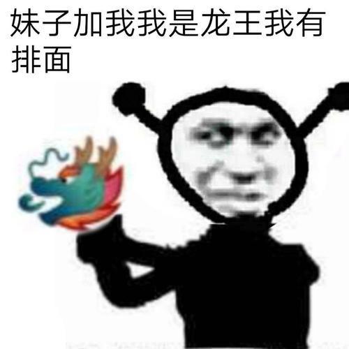 龙王表情包:妹子加我我是龙王我有排面