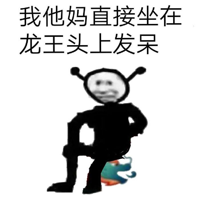 龙王表情包:我他妈直接坐在龙王头上发呆