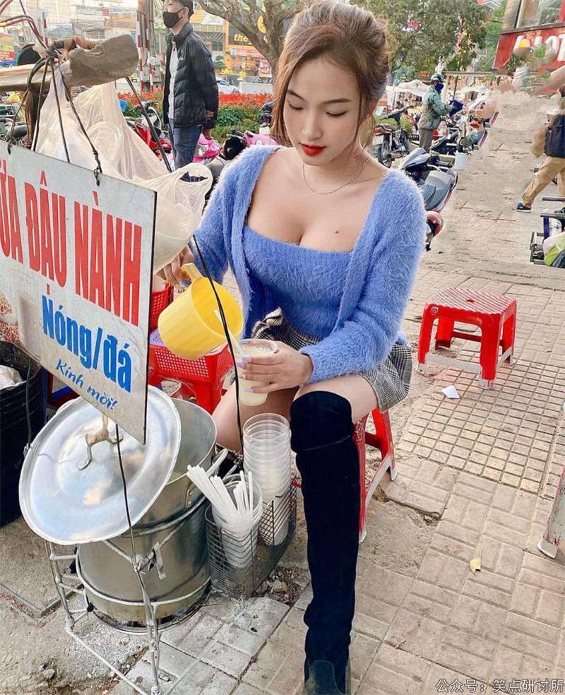 卖奶茶的越南漂亮女学生