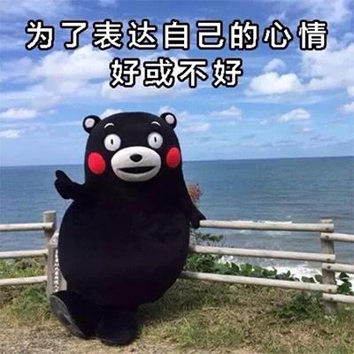 熊本熊表情包:为了表达自己的心情好或不好