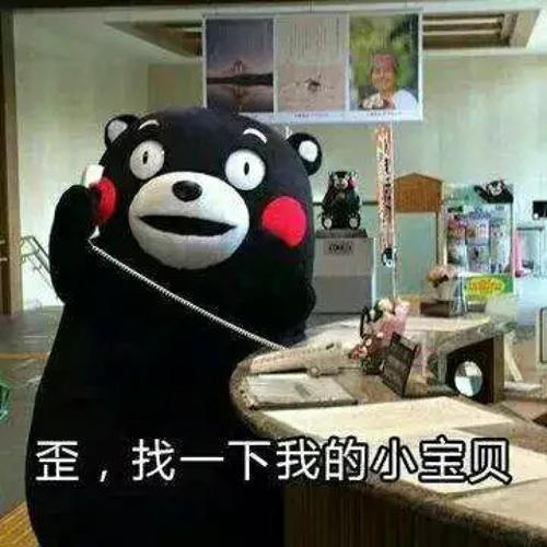 熊本熊表情包:歪,找一下我的小宝贝