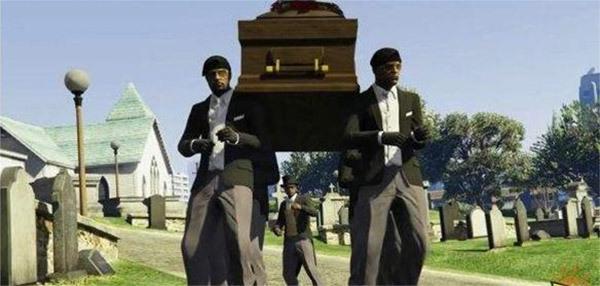 黑人抬棺墓地表情包
