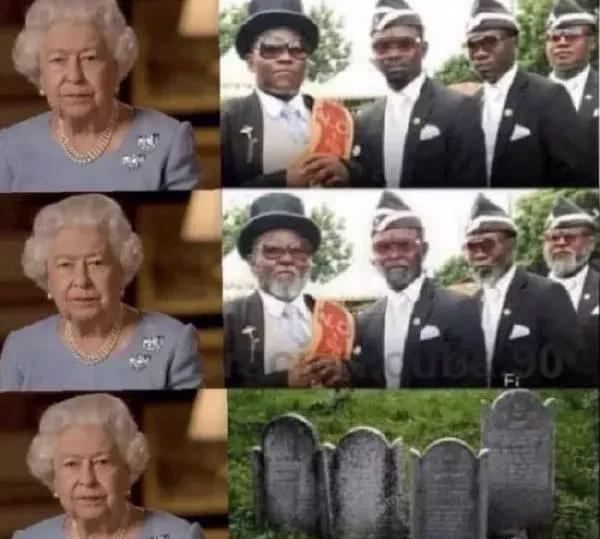 英国女王真的是超长待机 黑人抬棺团队都等不了