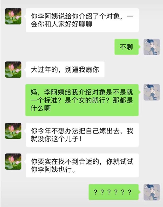 李阿姨介绍对象搞笑聊天记录截图