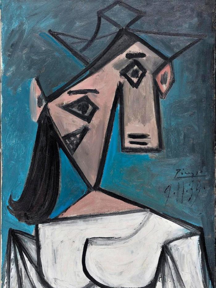 毕加索画作《女人头像》
