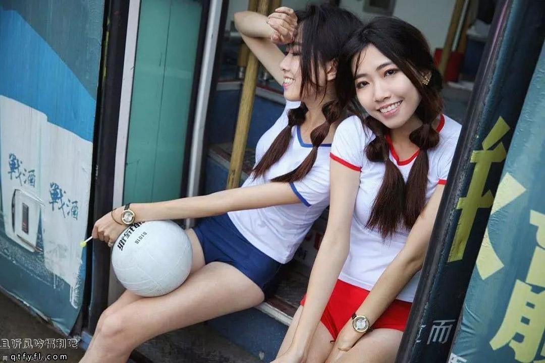 双胞胎姐妹花Shin和谷谷