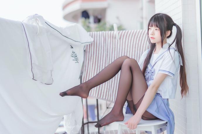 桜桃喵 044 黑丝水手服少女写真 清纯丝袜