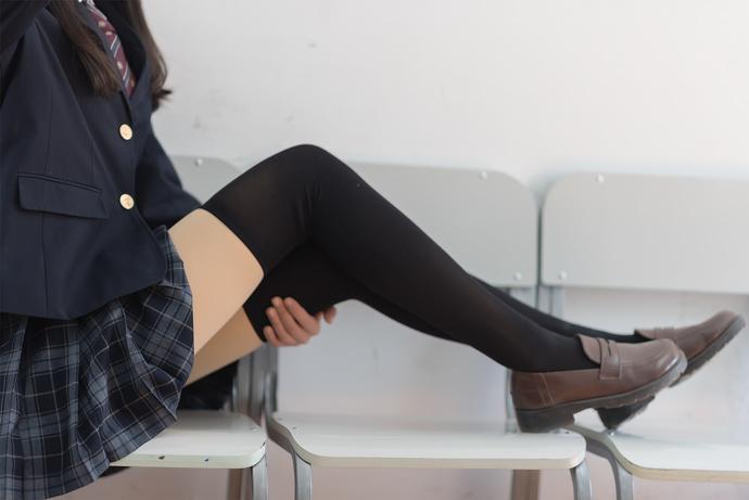 黑丝 JK 百褶裙 清纯丝袜