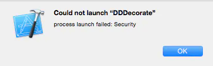 """Could not launch """"DDDecorate""""  XCode报错 【问题解决】插图"""