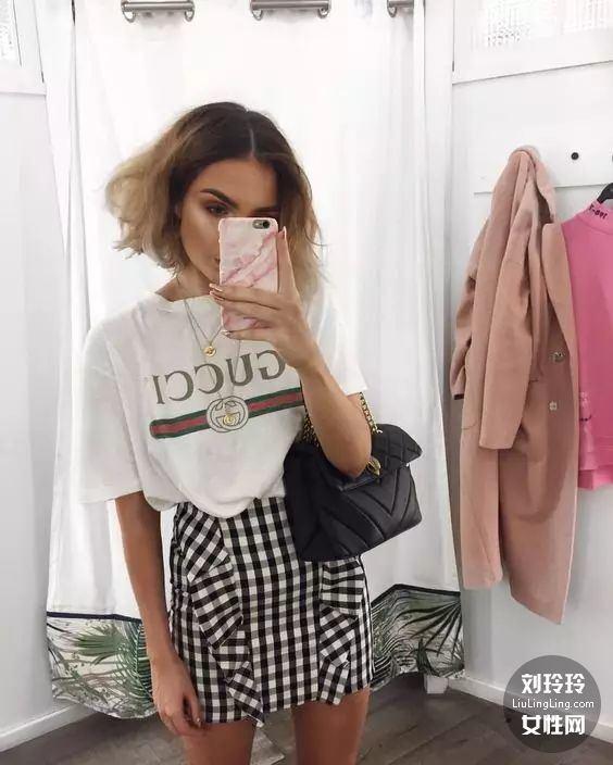 T恤和半裙就搞定整个夏天的美丽!18