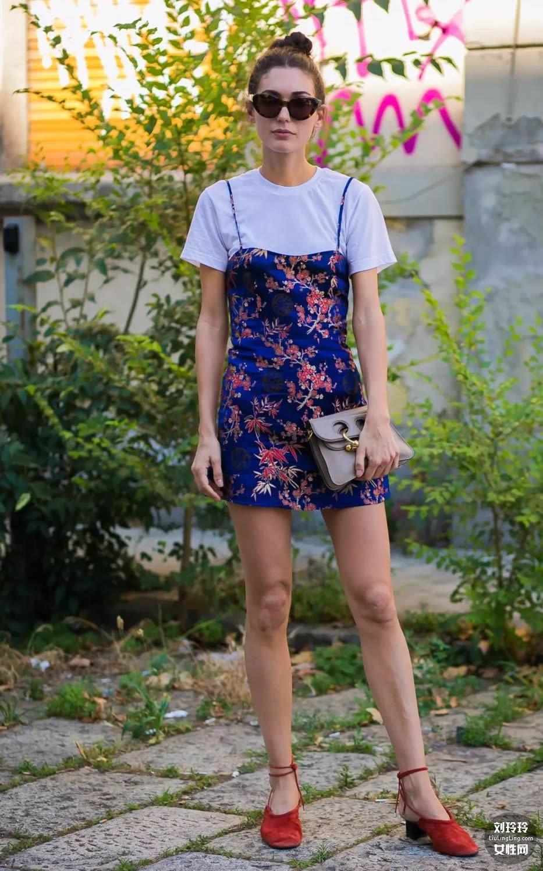 T恤和半裙就搞定整个夏天的美丽!30