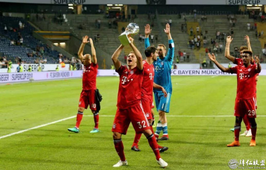 德国超级杯三连冠!拜仁5:0法兰克福13