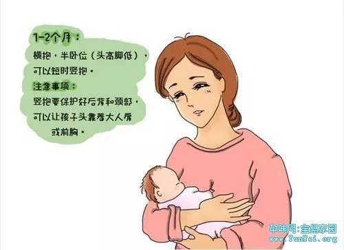 手绘不同阶段宝宝的正确抱法!超实用哦