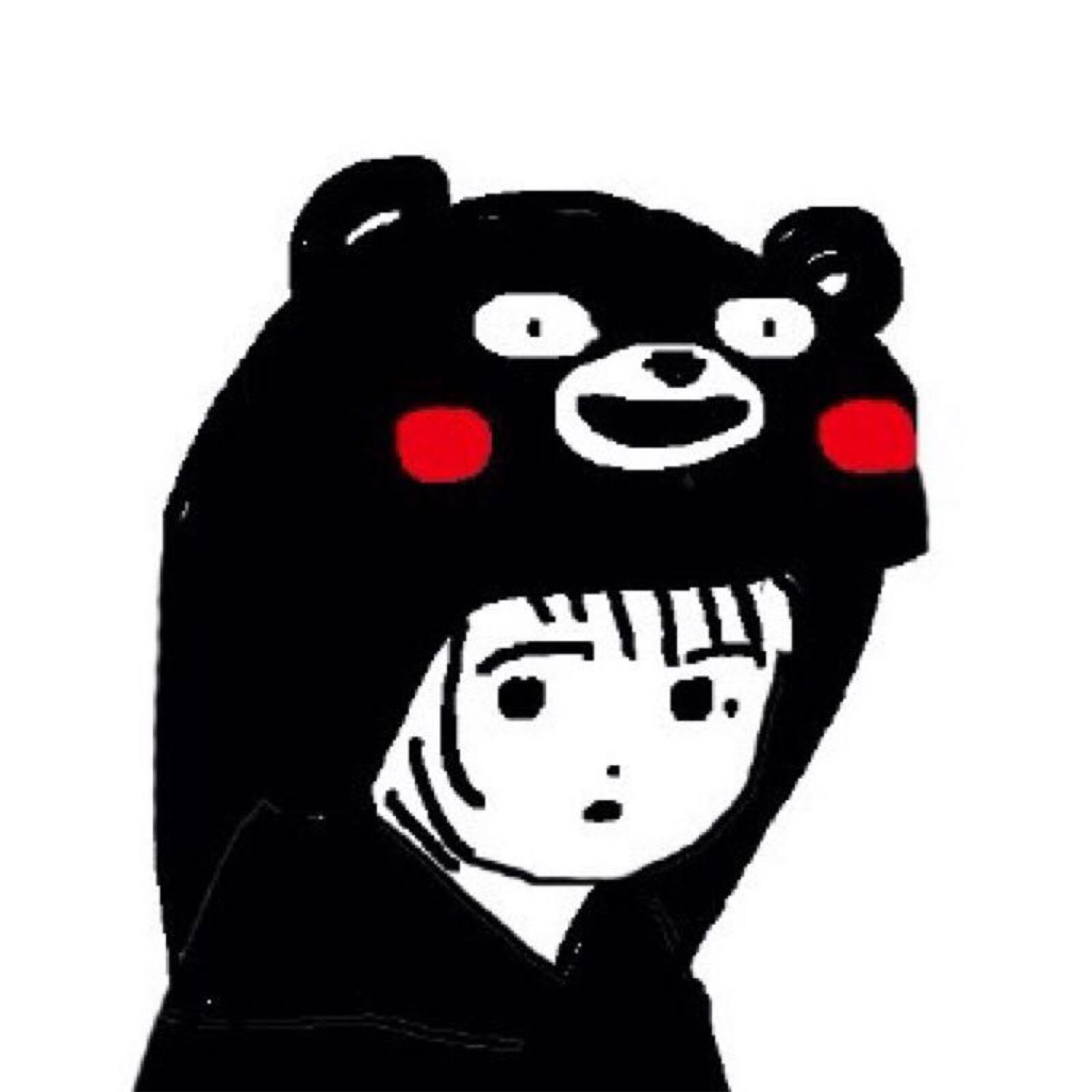 熊本熊服装高清情侣头像
