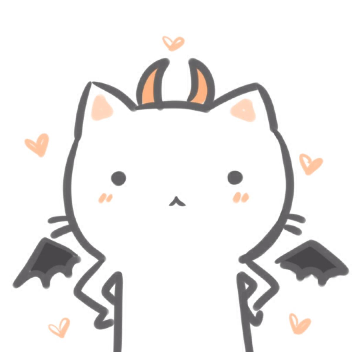 黑白猫高清情侣头像 第19张